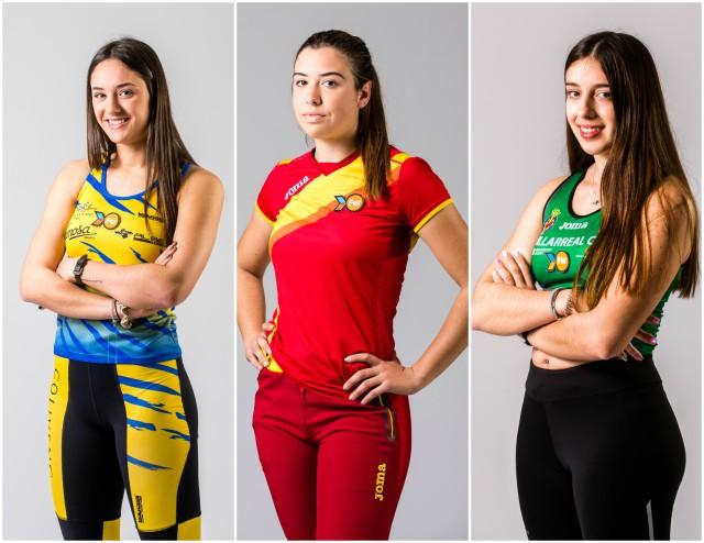 Ainhoa Gimeno, Aitana Safont y Sara Navarro